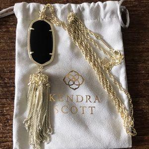 Kendra Scott Rayne Necklace Gold & Black